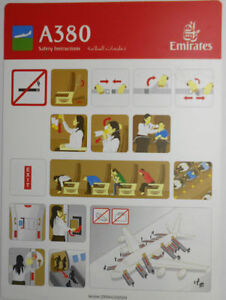 Airlines-safety-card-Emirates-A380