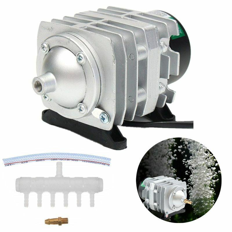 Electromagnetic Air Compressor Aerator Pump Aquarium Fish Tank Pond Splitter