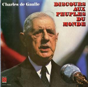 """""""de Gaulle"""" Discours Aux Peuples Du Monde (lp 33 Tours Français) Mint"""