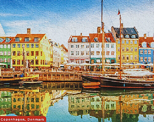 JIGSAW PUZZLE QUALITY 500 PIECE COPENHAGEN SCENE COLOURFUL TRADITIONAL BOXED
