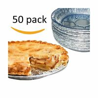 Premium 9 Aluminum Foil Pie Pans. Disposable Tin Plates For Pi... Free Shipping