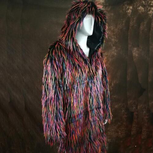 Kvinders Luksus Fur Vinter Outwear Frakke Knæ R694 Herre Fashion Lang Faux Jakke OrTOq