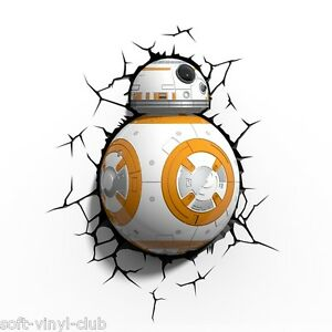 Star-Wars-L-039-Force-Akakens-BB-8-3D-LED-Deco-Lumiere-3D-Decorative