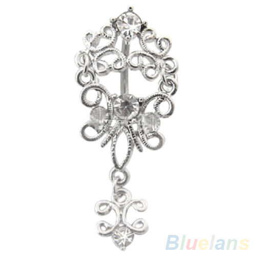 Hot Sale Body Piercing Jewelry Belly Dance Crystal Dangle Navel Barbell Ring