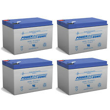 Power-Sonic 4 Pack - 12V 12Ah F2 MuZ Charly Charley Electric Scooter Battery