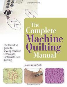 The-Komplett-Maschine-Gesteppt-Manuell-Von-Joanie-Zeier-Poole-Neu-Buch-Gratis-amp