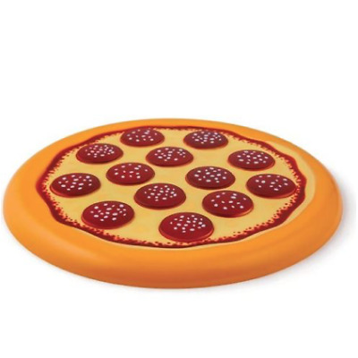 NEW BIGMOUTH INC FLYING FOOD PIZZA FUN DISC DURABLE PLASTIC TOY FRISBEE BEACH