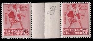 REPUBBLICA-SOCIALE-1944-75-c-MONUMENTI-n-508-COPPIA-INTERSPAZIO-SPL-10
