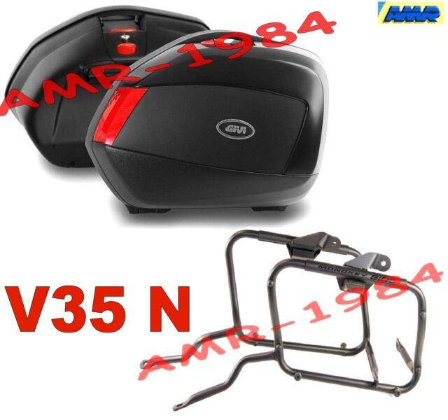 KIT VALIGIE V35 NERE + TELAIO YAMAHA TDM 900 02-13 COPPIA BORSE V35N + PLX347