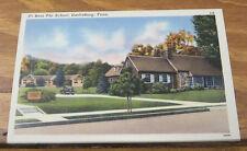 c1940 COLOR Postcard//PI BETA PHI SCHOOL, GATLINBURG, TENNESSEE