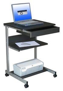 Image Is Loading Rolling Portable Computer Desk Mobile Work Station Laptop