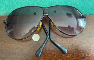 Vintage Ferrari Folding Sunglasses Gold Aviators Ebay
