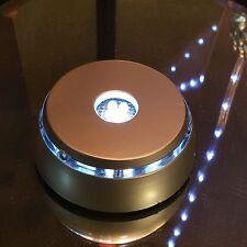 Elegant White Light LED Light Stand for Crystal / Glass Art /  Silver Base - USA