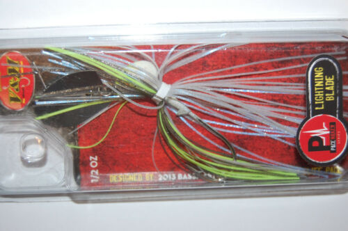 v /& m lightning silver blade pacemaker 1//2oz threadfin shad bass lure plbts12s