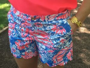 e4e16b83437083 NWT Lilly Pulitzer Buttercup Shorts Bay Blue Pop Pop Glow Sz 00,4 ...