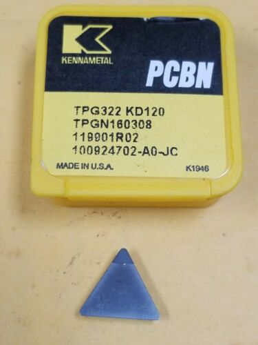 Kennametal TPG322 PCBN Turning Insert KD120 Uncoated