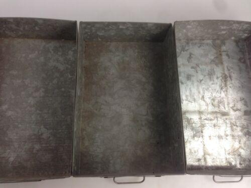 3x alte Blechkisten Metall Schubladen Industrie Design 40er 50er Bosch Werkstatt