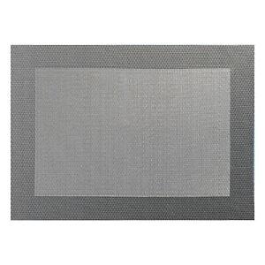 ASA-Selection-PVC-Tischset-mit-Gewebtem-Rand-Platzdeckchen-Platzset-PVC-Grau