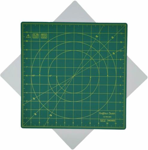 "Crafters Dream 360º Self Healing Rotating Cutting Mat Square 12/"" x 12/"" Non Slip"