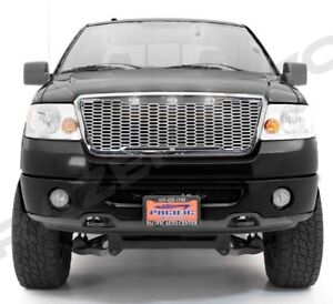 04-08-Ford-F150-Raptor-Chrome-Front-Hood-Mesh-Grille-Shell-White-3x-LED-Light