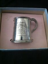 """Sheffield Pewter """"Jack And Jill"""" Baby Cup"""