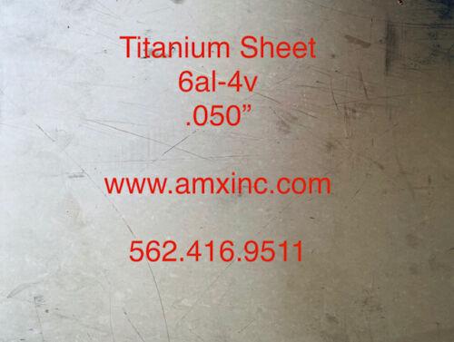 """TITANIUM SHEET 6AL-4V .050/"""" X 12/"""" X 12/"""""""