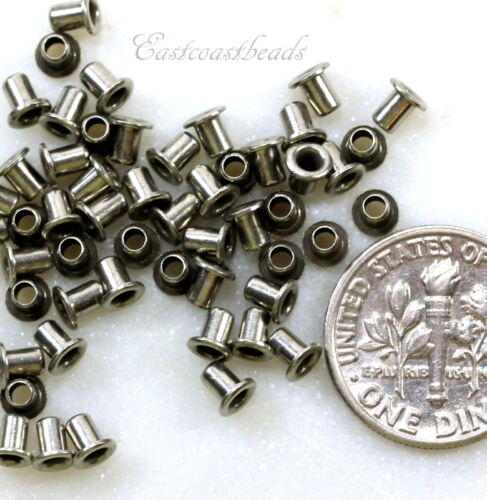 Antiqued Tin 50 Pcs TierraCast Eyelets 8045 Leather Craft Findings 3.7mm