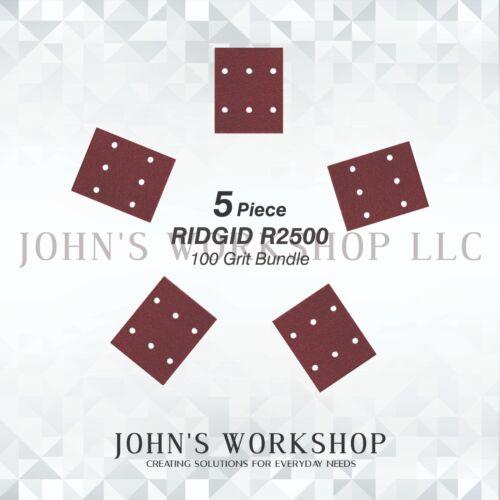No-Slip CRAFTSMAN 315279840-100 Grit RIDGID R2500 5 Sandpaper Bundle