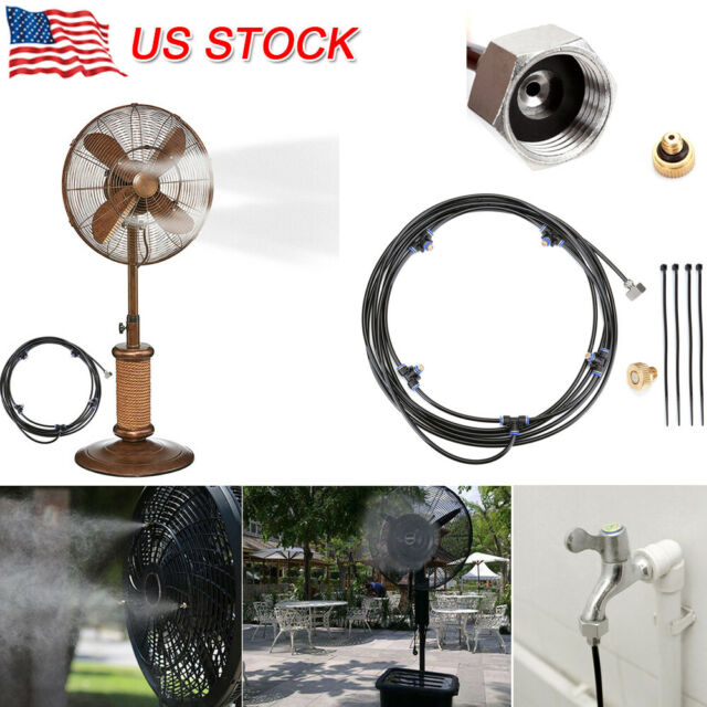 Outdoor Misting System Fan Cooler Water Cooling Portable Patio Mist Garden  Spray