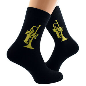 89805a767dc Socks Cool Trumpet Design Woven Cotton Rich Mens Socks UK Size 5-12 X6S022  Clothing