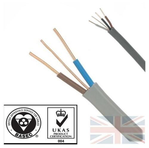 Twin and Earth3 Core and EarthQuality Electrical Cable Wire 6243 6242Y