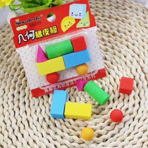 7 pc mignon building bricks train en forme de gommes set nouveauté fun kids caoutchoucs