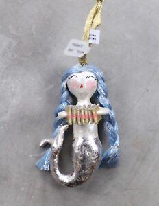Image Is Loading Anthropologie Merry Mermaid Christmas Ornament Blue Braids Beauty