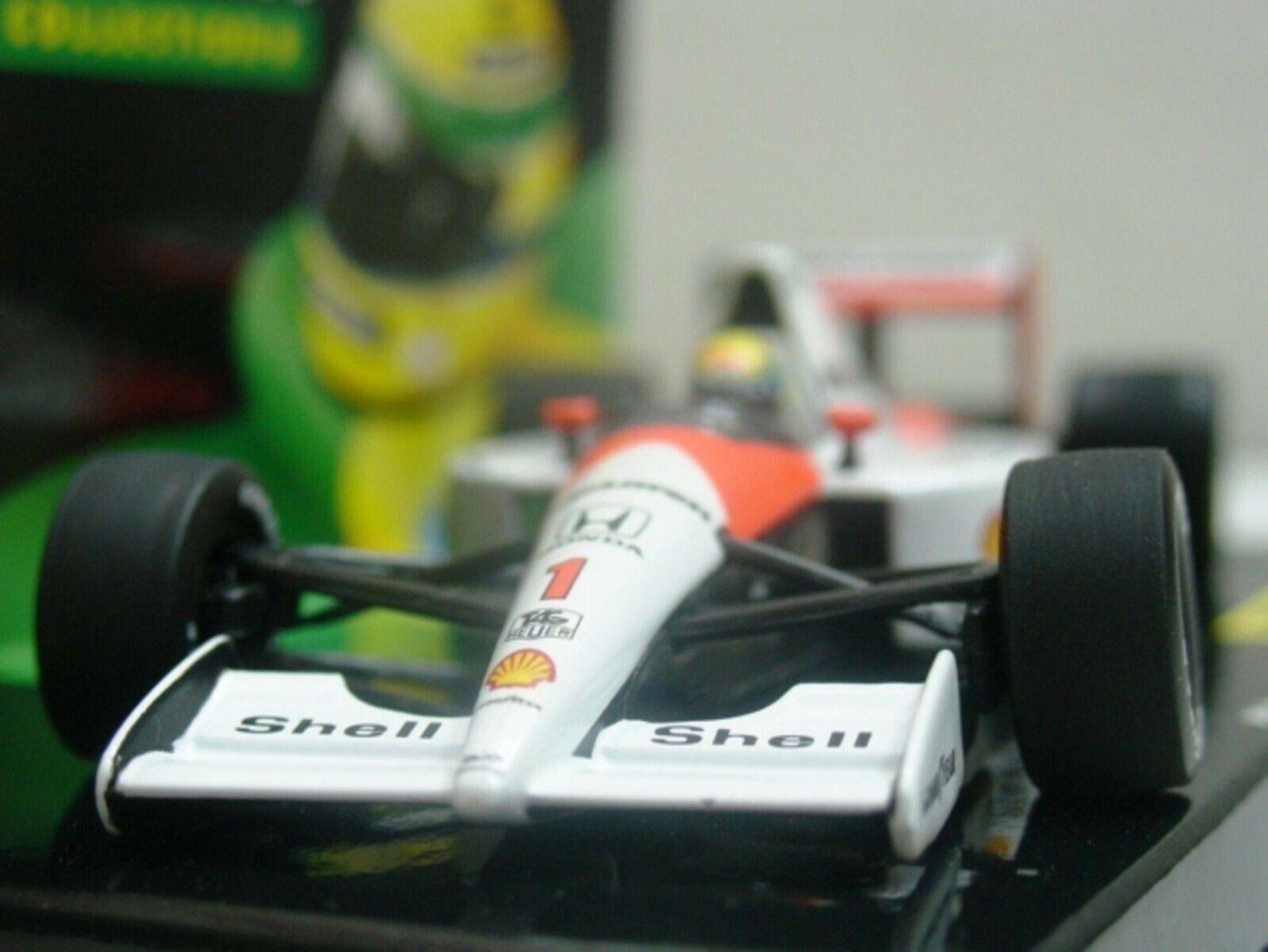 WOW EXTREMELY RARE McLaren 1991 MP4 6 Honda Senna GP Hockenheim 1 43 Minichamps