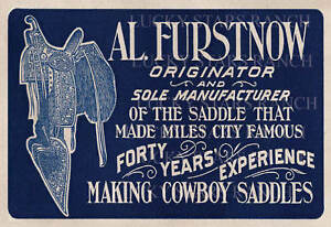 Al-Furstnow-Saddle-Shop-Sign-Print-13x19-Vintage-Image