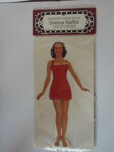 e62457c3d6c Image is loading Deanna-Durbin-paper-doll-vintage-movie-star-celebrity-