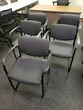 Lot Of 5 Steelcase Office Guest Chair Sled Base