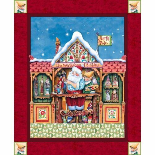 Springs creative 100/% coton patchwork quilting santa elf atelier par jim shore