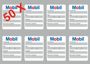 Mobil Oil Change >> Details About 50x Mobil Oil Change Service Reminder Stickers Decals Adhesive Labels Die Cut