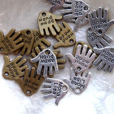 BRONZE MAIN HAND MADE LOT de 10 BRELOQUES