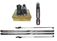 Whitewoods Adult Nnn Cross Country Package Skis Boots Bindings Poles 157cm