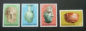 Luxembourg-Gallo-Roman-Exhibits-1972-Antique-Art-Artifacts-Culture-stamp-MNH