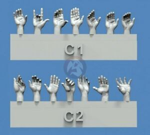 Royal-Model-1-35-Assorted-Hands-Set-No-3-7-Left-amp-7-Right-different-poses-841