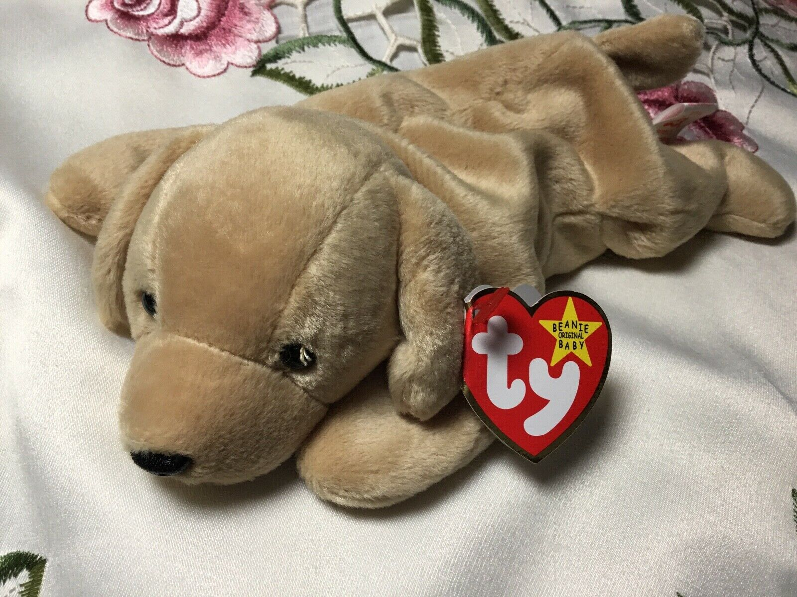 Fetch the golden Retriever Ty Beanie Baby Baby Baby Rare with Errors 1997 style 4189 39b85b