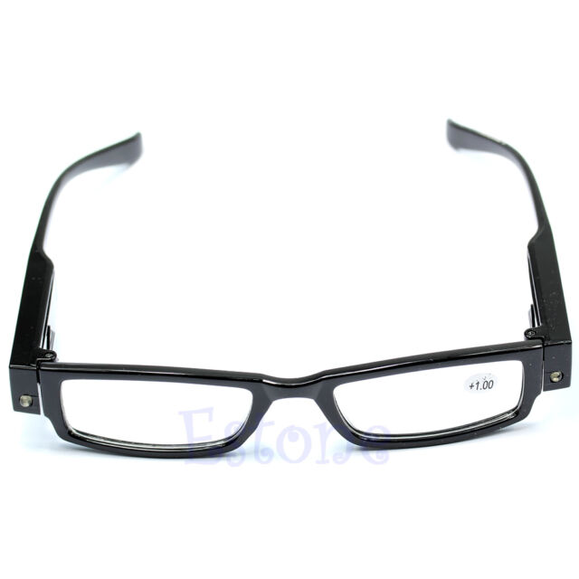Multi Strength LED Reading Eyeglass Glasses Spectacle Diopter Magnifier Light UP