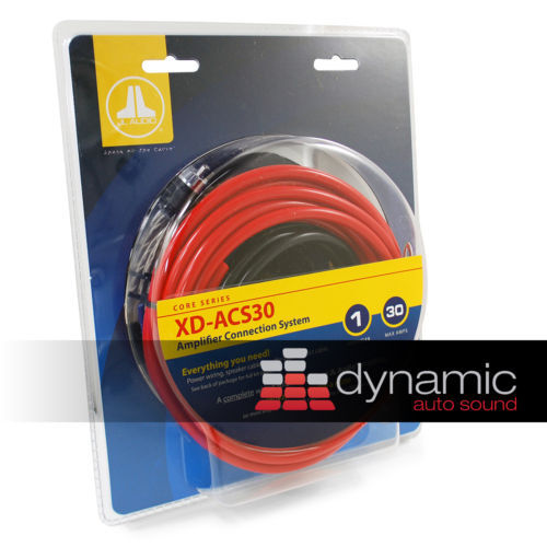 JL AUDIO XD-ACS30 Complete Power Installation Amp Kit 8AWG w/RCA Cable on fi audio wiring, audiobahn wiring, fender wiring, pioneer wiring, ma audio wiring, bosch wiring,