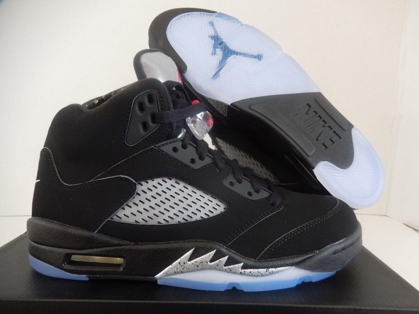 Nike Air Jordan 5 Fuego Metalizado Retro Og Negro Rojo Fuego 5 Plata 3ab84d