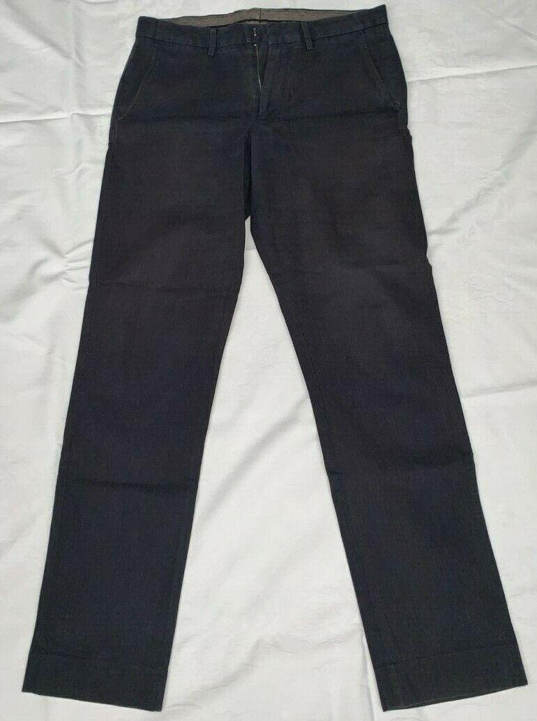 JCrew Mens Dark Grey Bowery Slim Trousers 30 32