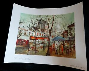 Litho-Paris-La-Place-du-Tertre-France-17-5x14-034-Editions-1982-Artertre