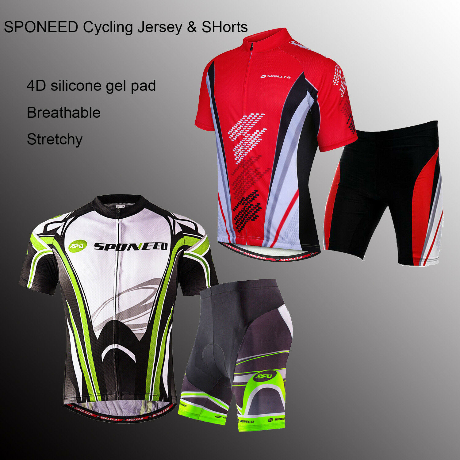 Men Bike Uniforms Team Cycling Jersey & Shorts Kits Pro Mtn Road Cycle Outfits